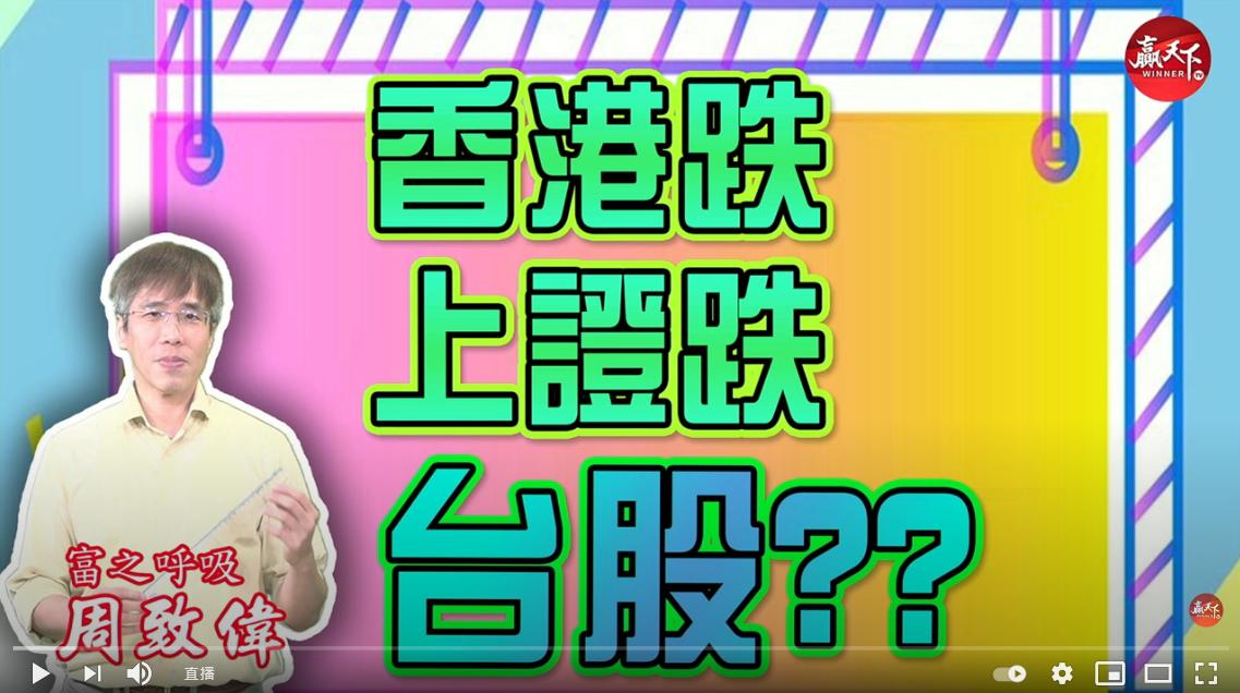 2021/09/16(四) 14:00 周致偉【致富達人】【香港跌 上證跌 台股??】