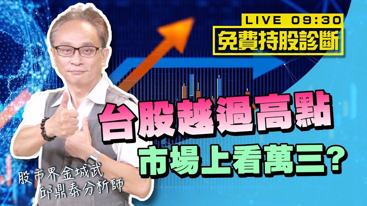 邱鼎泰【台股越過高點 市場上看萬三?】