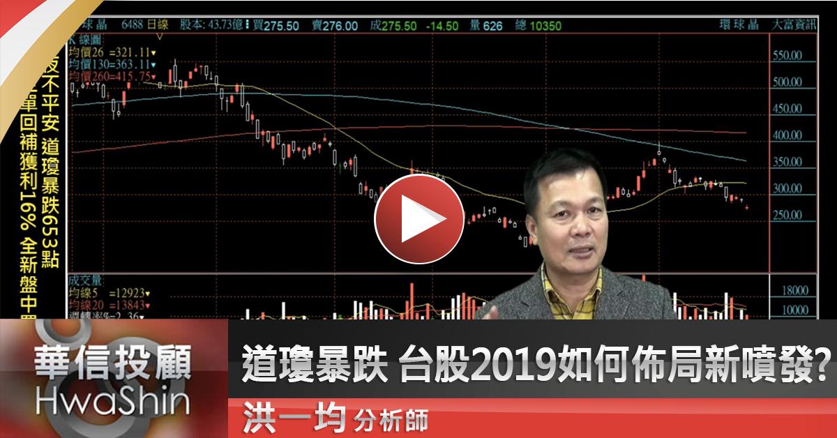 【洪一均橫掃千軍】道瓊暴跌 台股2019如何佈局新噴發?