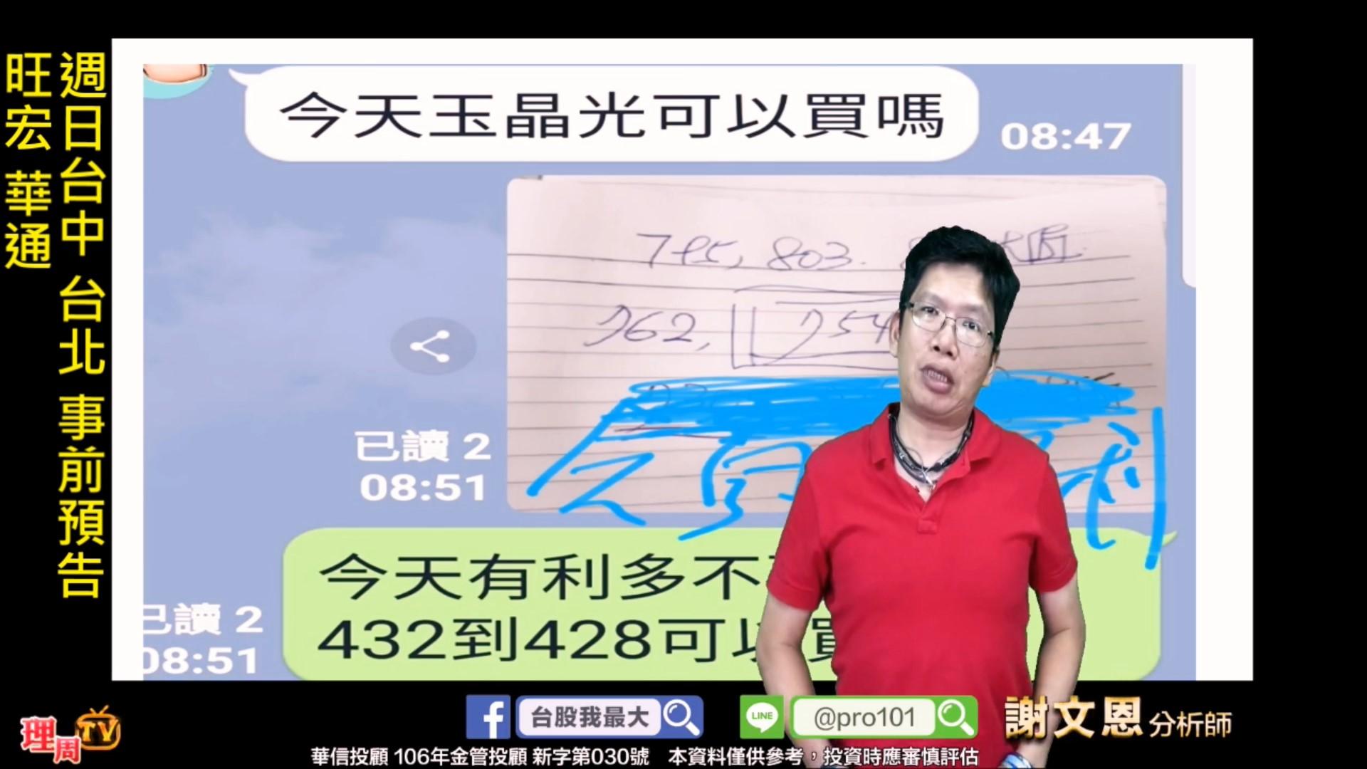 0906_週日台中 台北 事前預告 旺宏 華通