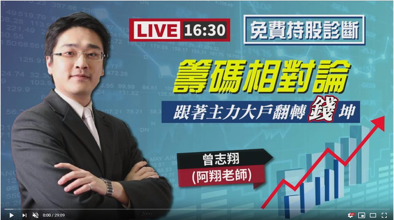 2020/03/25(三) 16:30 曾志翔【籌碼相對論】跟著主力大戶翻轉錢坤